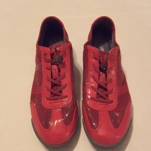 DKNY Red Patent Sneakers